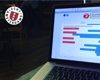 Het Amsterdamse Waaromkiesjij.nl doorbreekt bubbels op politiek speeddate platform